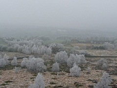 A Winters view from the top of Norland Moor in frosty weather.